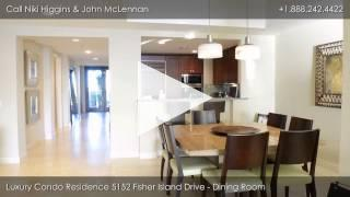 Luxury Condo Residence at 5152 Fisher Island Drive, Miami Beach, Florida