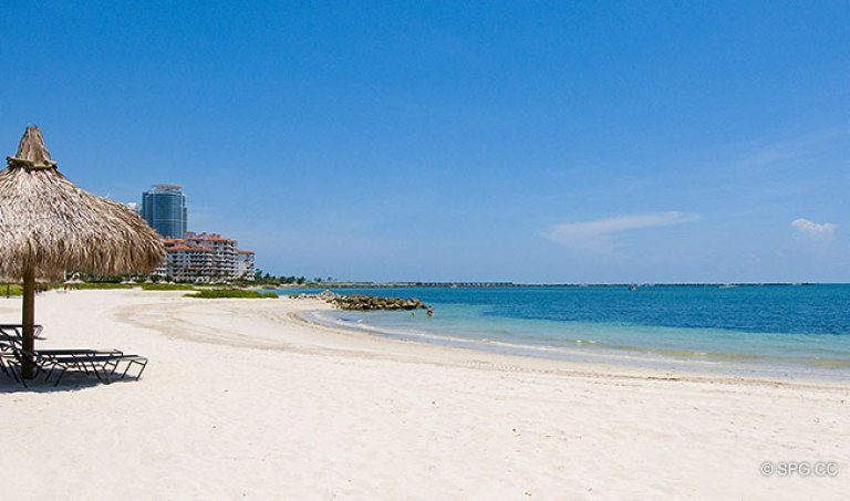 Smooth Sand Beaches on Fisher Island