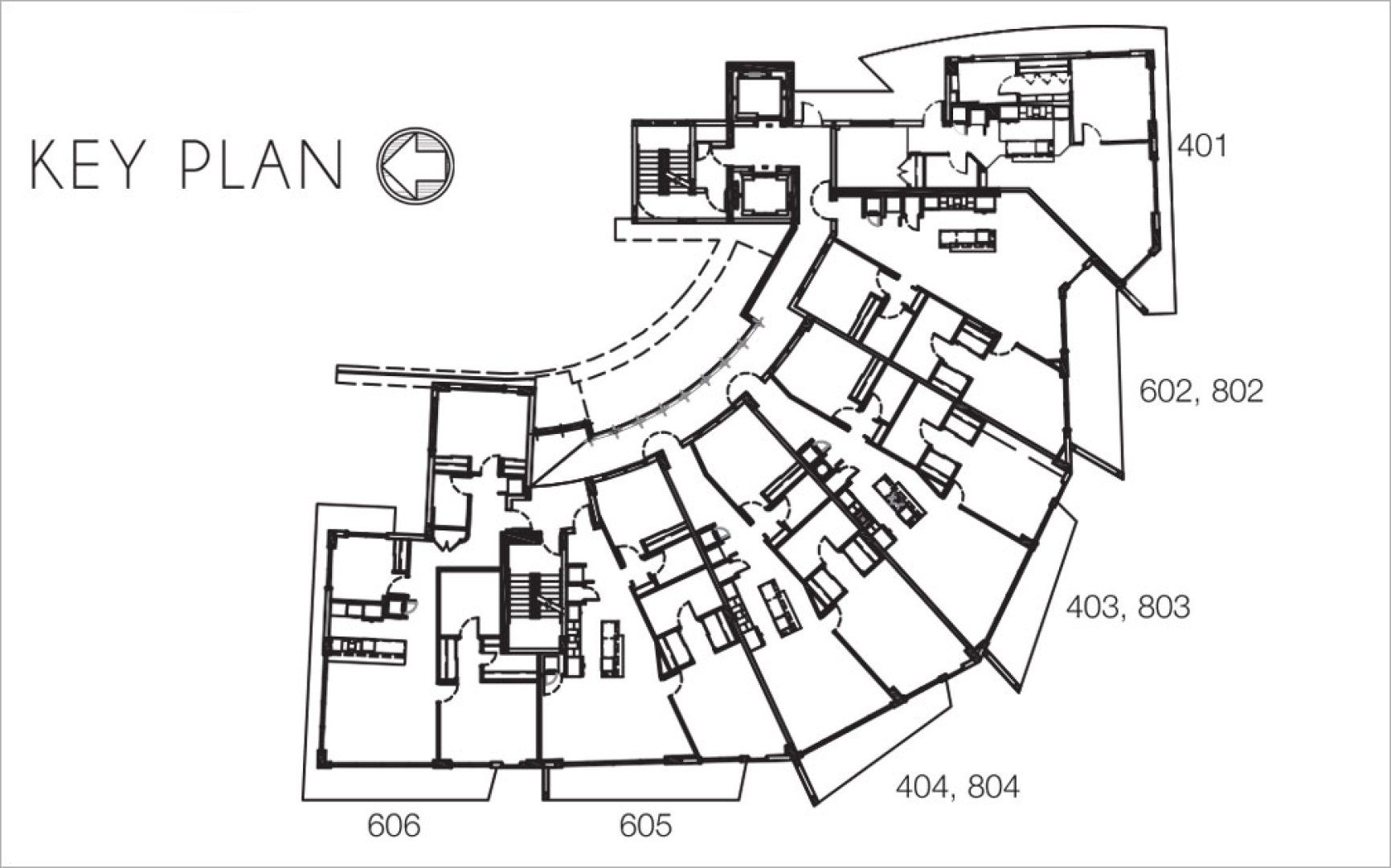 Siteplan for O Residences, Luxury Waterfront Condominiums Located at 9821 E Bay Harbor Dr, Miami, FL 33154