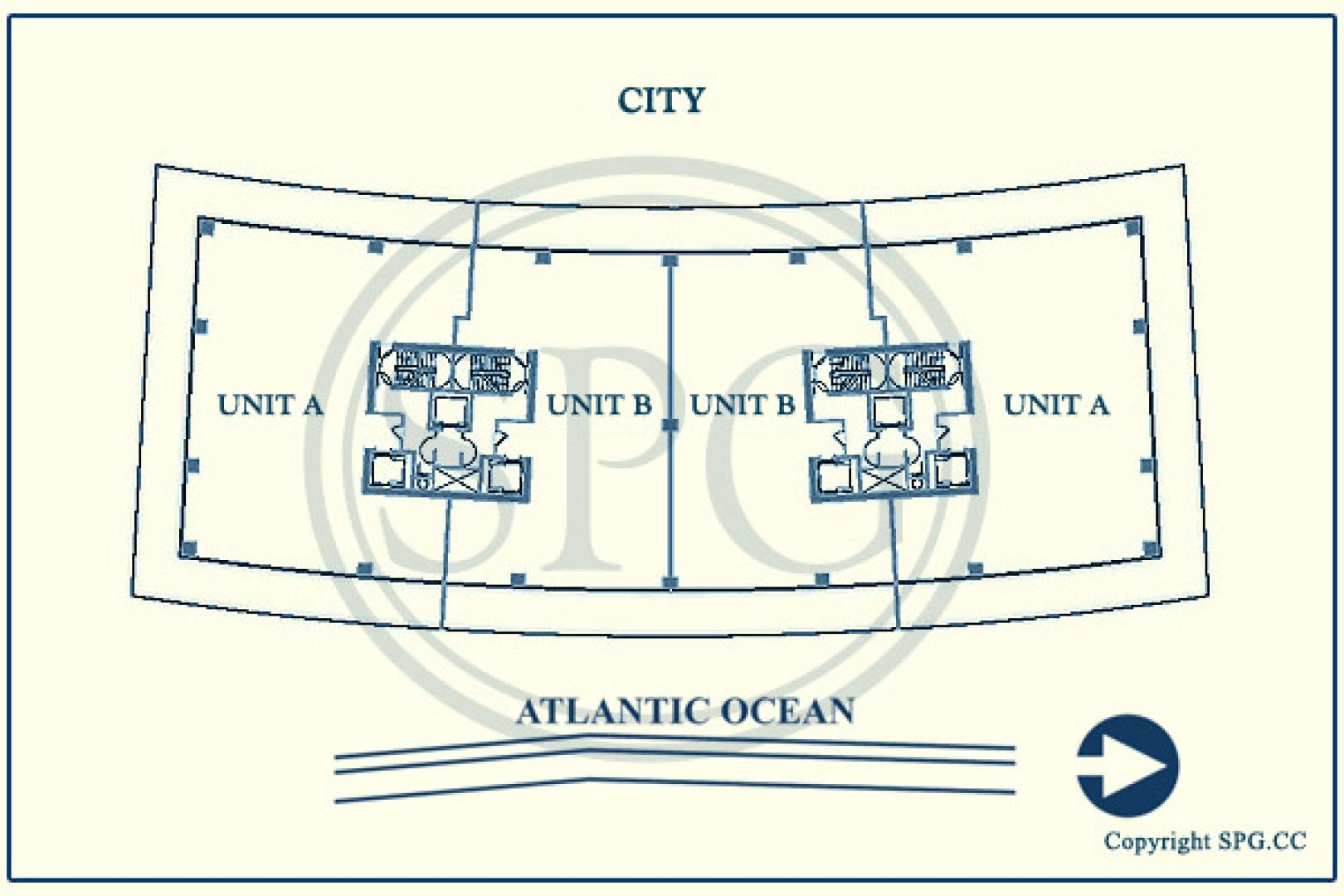 Siteplan for Apogee, Luxury Waterfront Condominiums Located at 800 South Pointe Drive, Miami Beach, Florida 33139