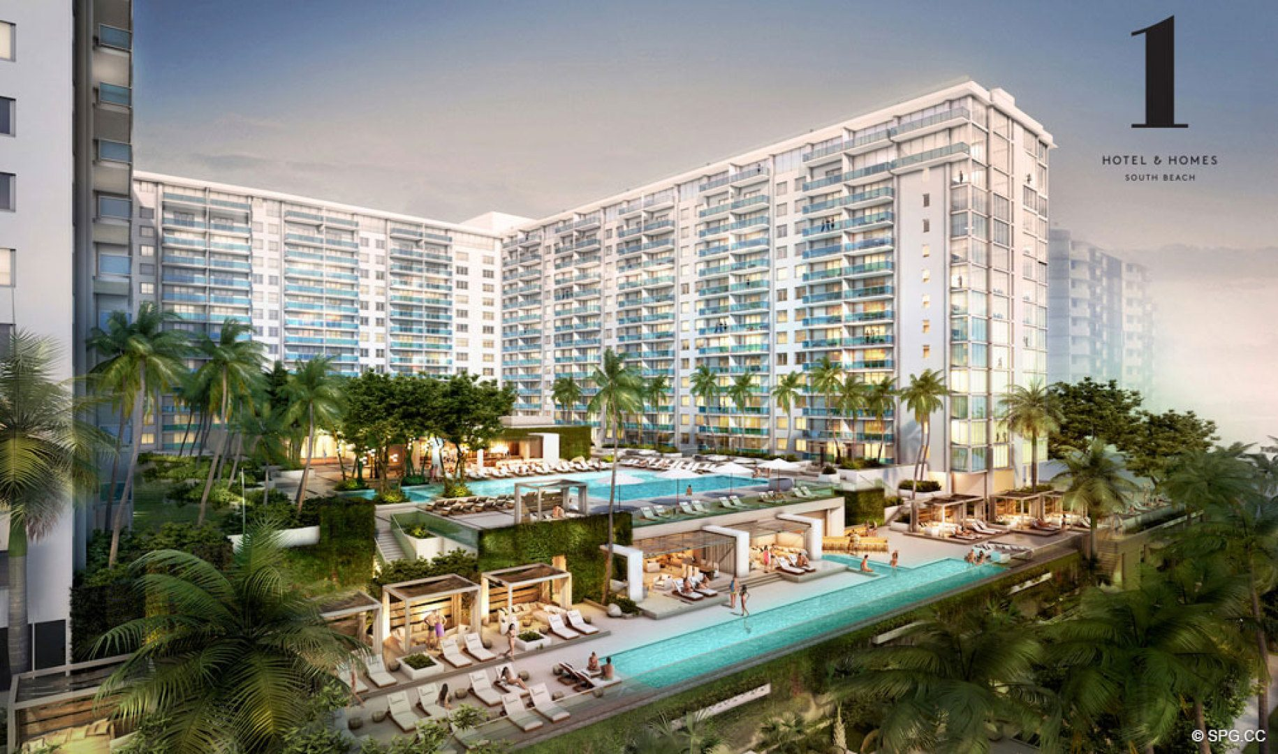 1 Hotel & Homes, New Luxury Oceanfront Condominiums Located at 2399 Collins Ave, Miami Beach, FL 33139