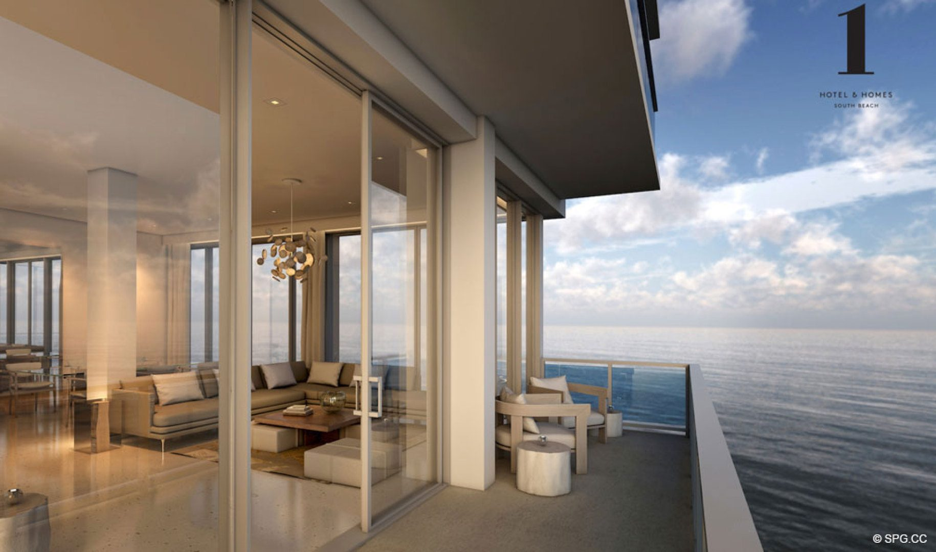 Penthouse Views at 1 Hotel & Homes South Beach, Luxury Oceanfront Condominiums Located at 2399 Collins Ave, Miami Beach, FL 33139