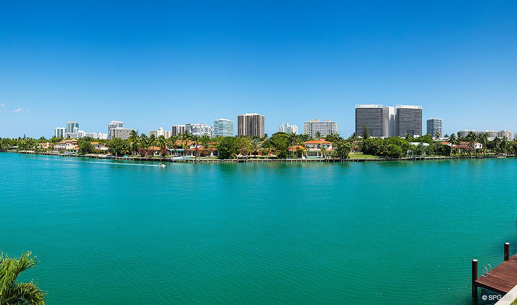 Water Views from O Residences, Luxury Waterfront Condominiums Located at 9821 E Bay Harbor Dr, Miami Beach, FL 33154