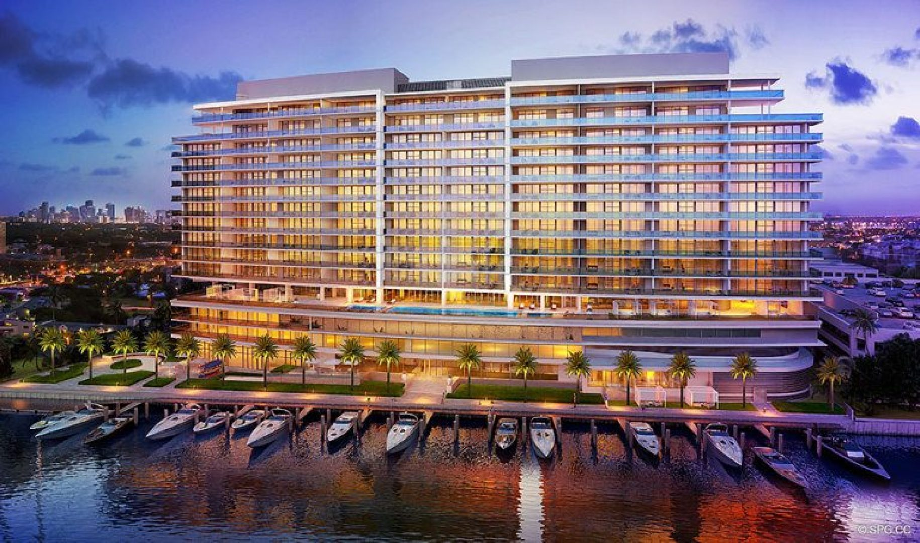 Architectural Concept for Riva, Luxury Waterfront Condos in Fort Lauderdale, Florida 33304.