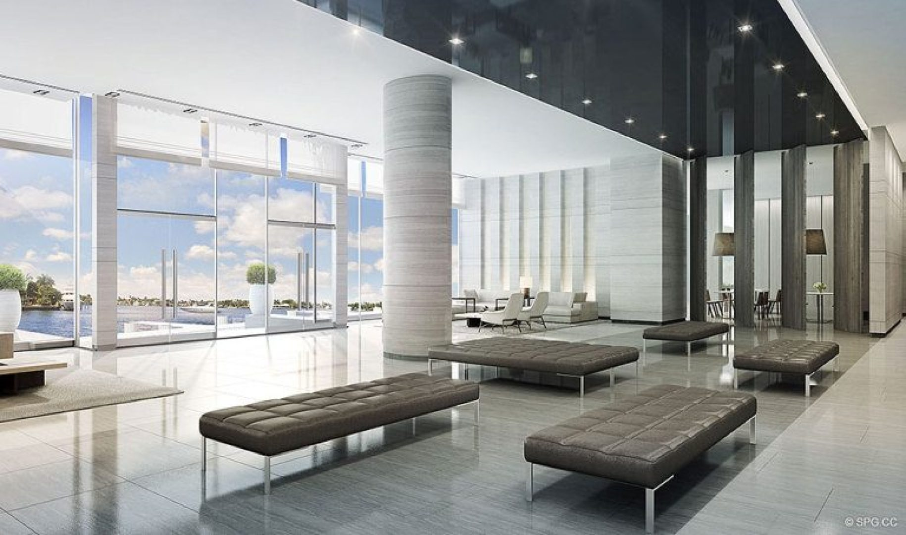 Lobby Concept for Riva, Luxury Waterfront Condos in Fort Lauderdale, Florida 33304.