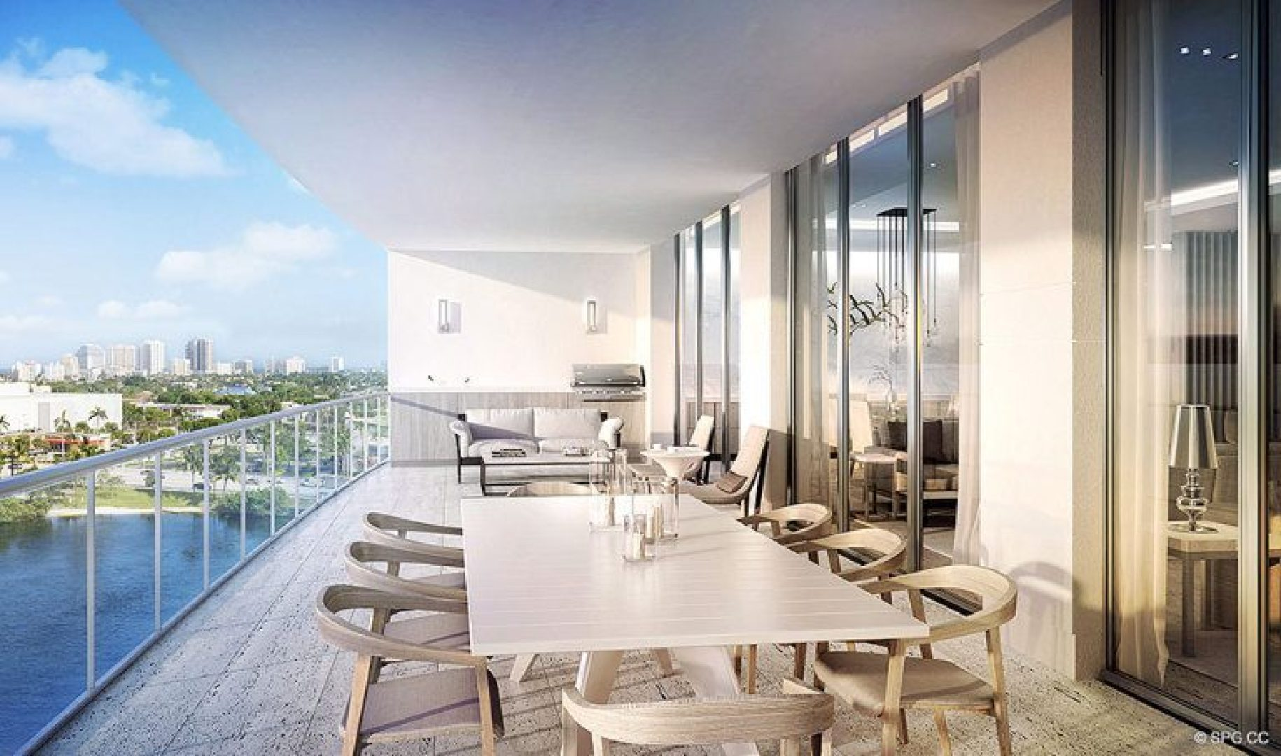 Large Private Terraces at Riva, Luxury Waterfront Condos in Fort Lauderdale, Florida 33304.