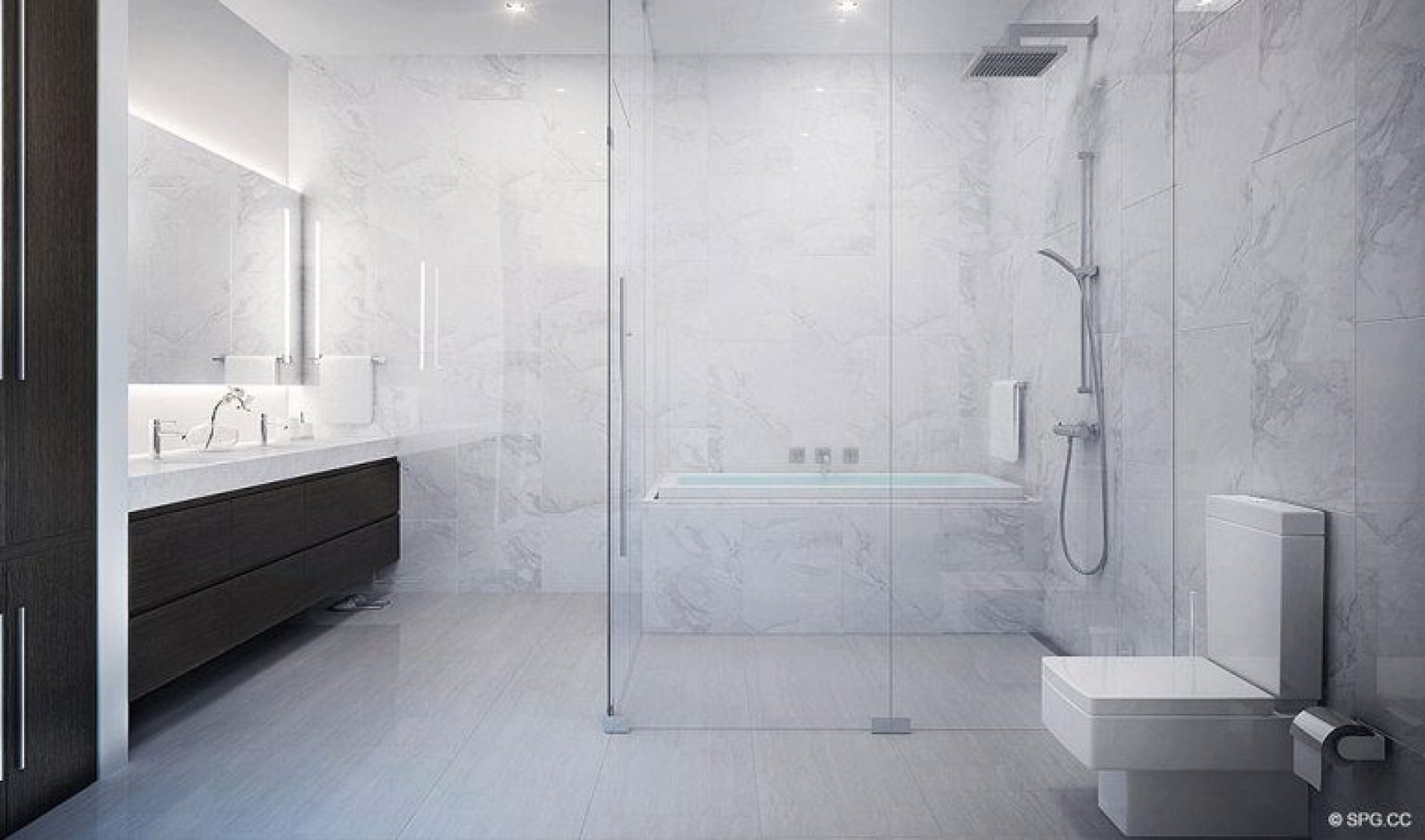 Bathroom Concept for Riva, Luxury Waterfront Condos in Fort Lauderdale, Florida 33304.