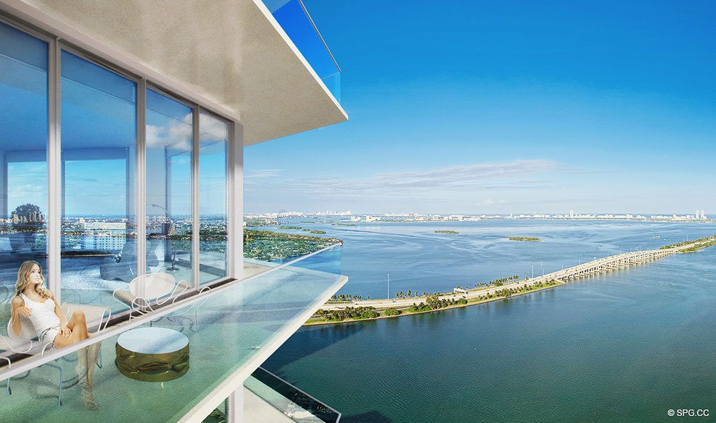 Stunning Terrace Views at Paraiso Bayviews, Luxury Seaside Condos in Miami, Florida 33137
