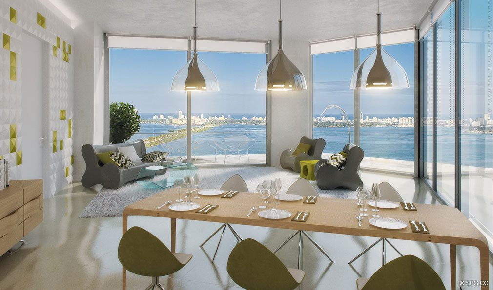Unique Interior Design Concepts at Paraiso Bayviews, Luxury Seaside Condos in Miami, Florida 33137