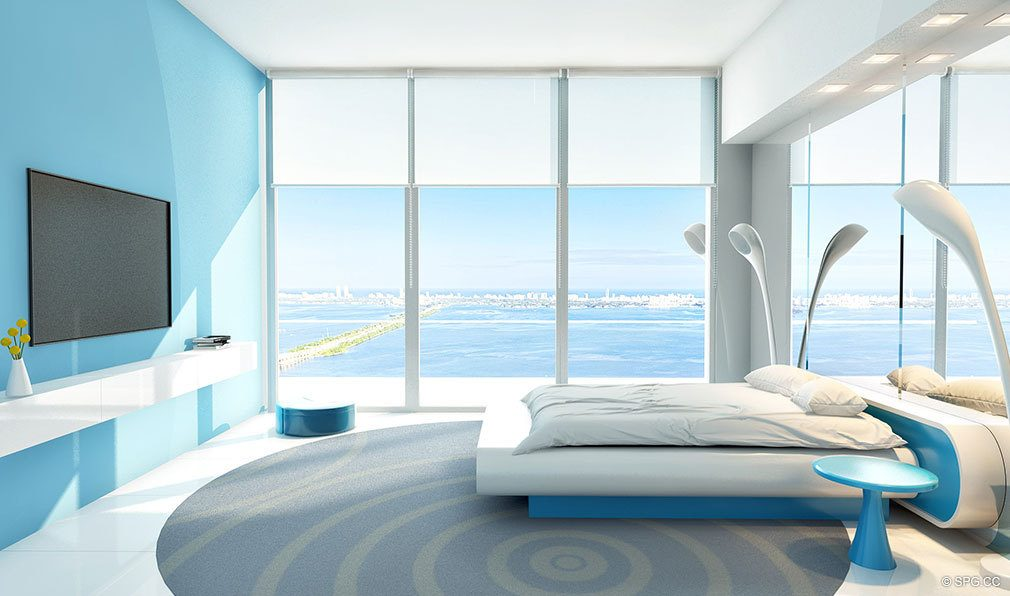 Relaxing Bedroom Concept for Paraiso Bayviews, Luxury Seaside Condos in Miami, Florida 33137