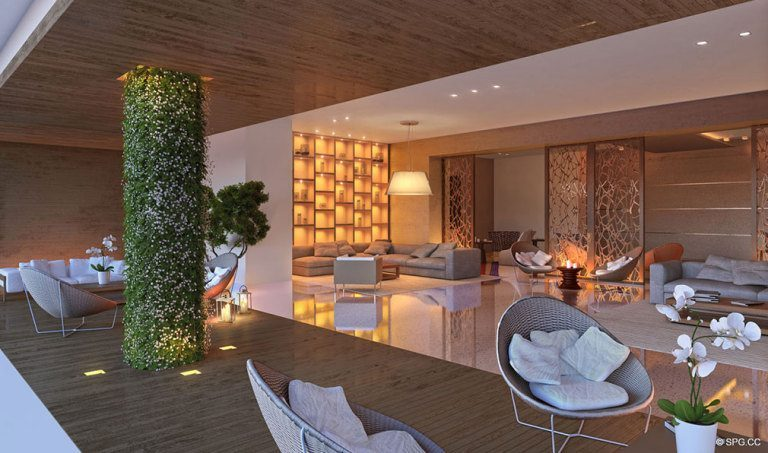 Lobby Concept for Palazzo del Sol, Luxury Waterfront Condominiums Located on Fisher Island, Miami Florida 33109