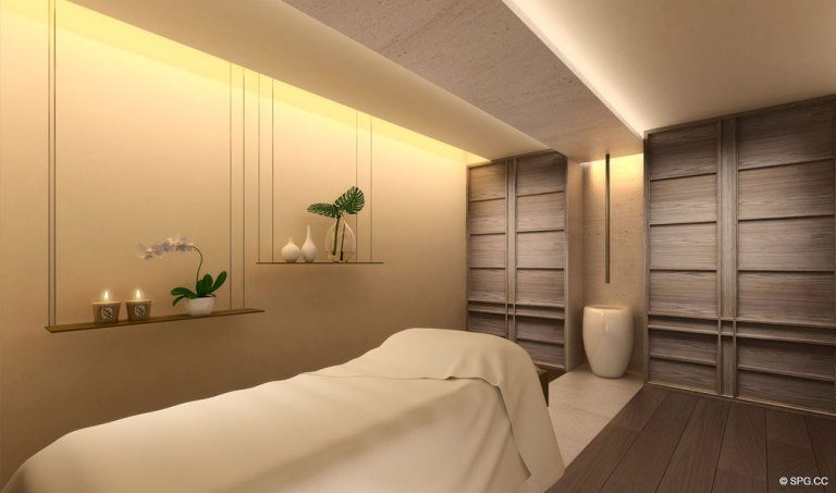 Spa Area Design for Palazzo del Sol, Luxury Waterfront Condominiums Located on Fisher Island, Miami Florida 33109