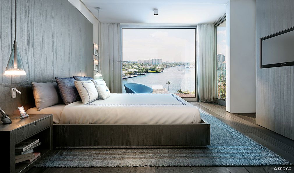 Bedroom Views from Gale Hotel and Residences, Luxury Waterfront Condos in Fort Lauderdale, Florida 33304