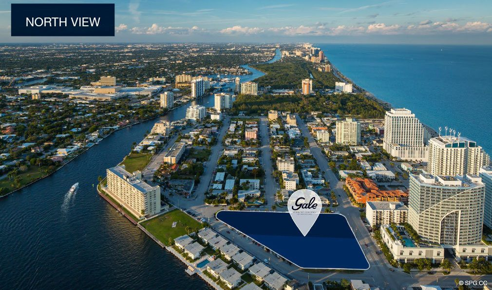 North View of Gale Hotel and Residences, Luxury Waterfront Condos in Fort Lauderdale, Florida 33304