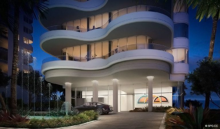 Entrance to Faena Versailles Contemporary, Luxury Oceanfront Condos in Miami Beach, Florida 33140