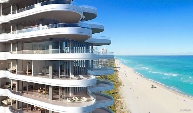 Ocean View from Faena Versailles Contemporary, Luxury Oceanfront Condos in Miami Beach, Florida 33140