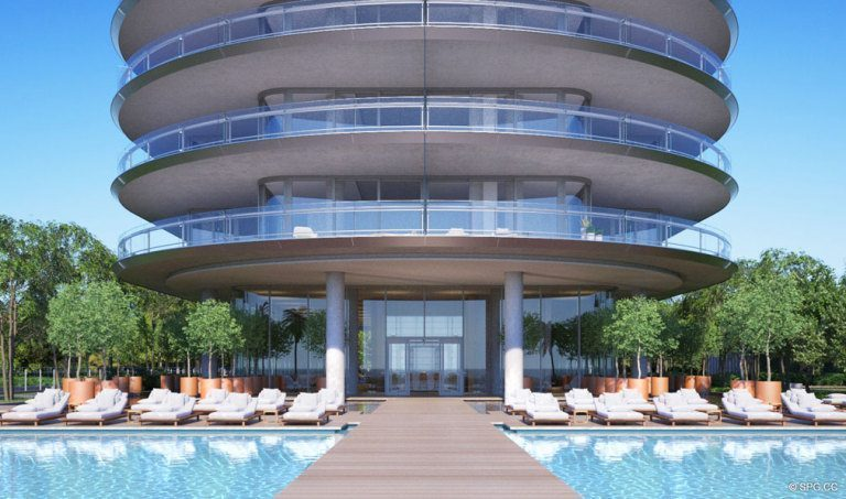 Poolside at Eighty Seven Park, Luxury Oceanfront Condos in Miami Beach, Florida 33154