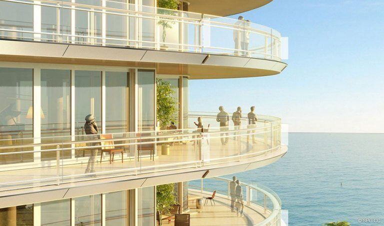 Terrace Views from Eighty Seven Park, Luxury Oceanfront Condos in Miami Beach, Florida 33154