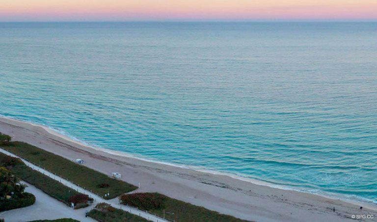 Northeast View from Eighty Seven Park, Luxury Oceanfront Condos in Miami Beach, Florida 33154