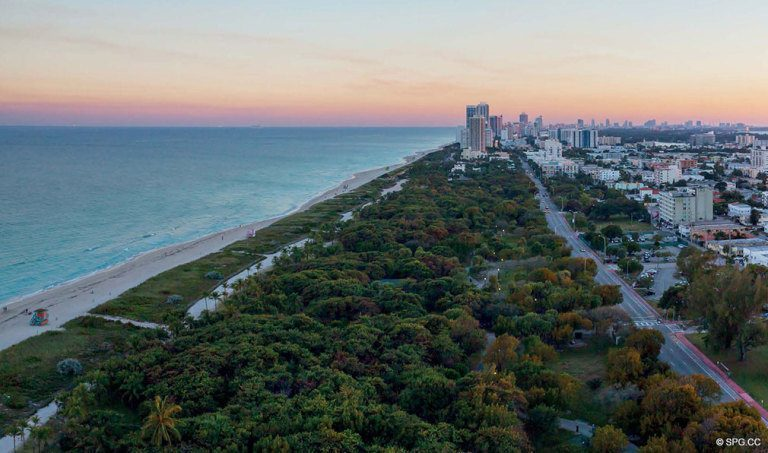 Southern View from Eighty Seven Park, Luxury Oceanfront Condos in Miami Beach, Florida 33154