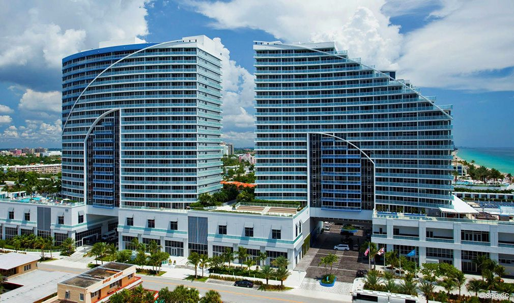 Twin Buildings at The W Fort Lauderdale, Luxury Oceanfront Condos in Fort Lauderdale, 33304
