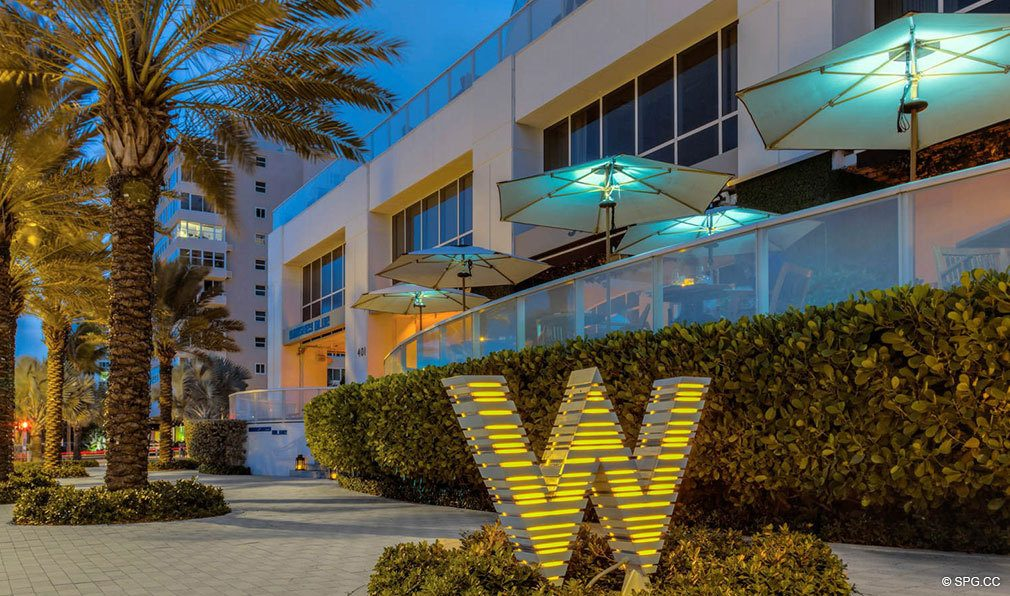 Beachfront Exterior at The W Fort Lauderdale, Luxury Oceanfront Condos in Fort Lauderdale, 33304