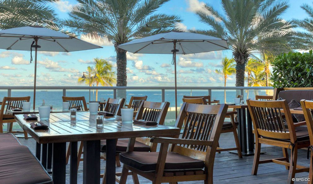 Beachfront Dining at The W Fort Lauderdale, Luxury Oceanfront Condos in Fort Lauderdale, 33304
