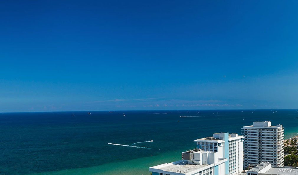 Southeast Ocean Views from The W Fort Lauderdale, Luxury Oceanfront Condos in Fort Lauderdale, 33304