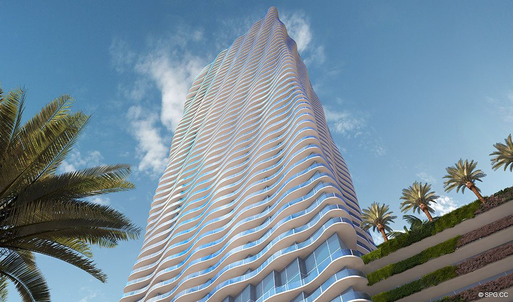 Ground View of Auberge Residences and Spa Miami, Luxury Seaside Condos in Miami, Florida 33132.