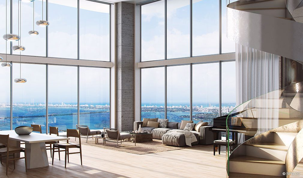 Penthouse Design in Auberge Residences and Spa Miami, Luxury Seaside Condos in Miami, Florida 33132.
