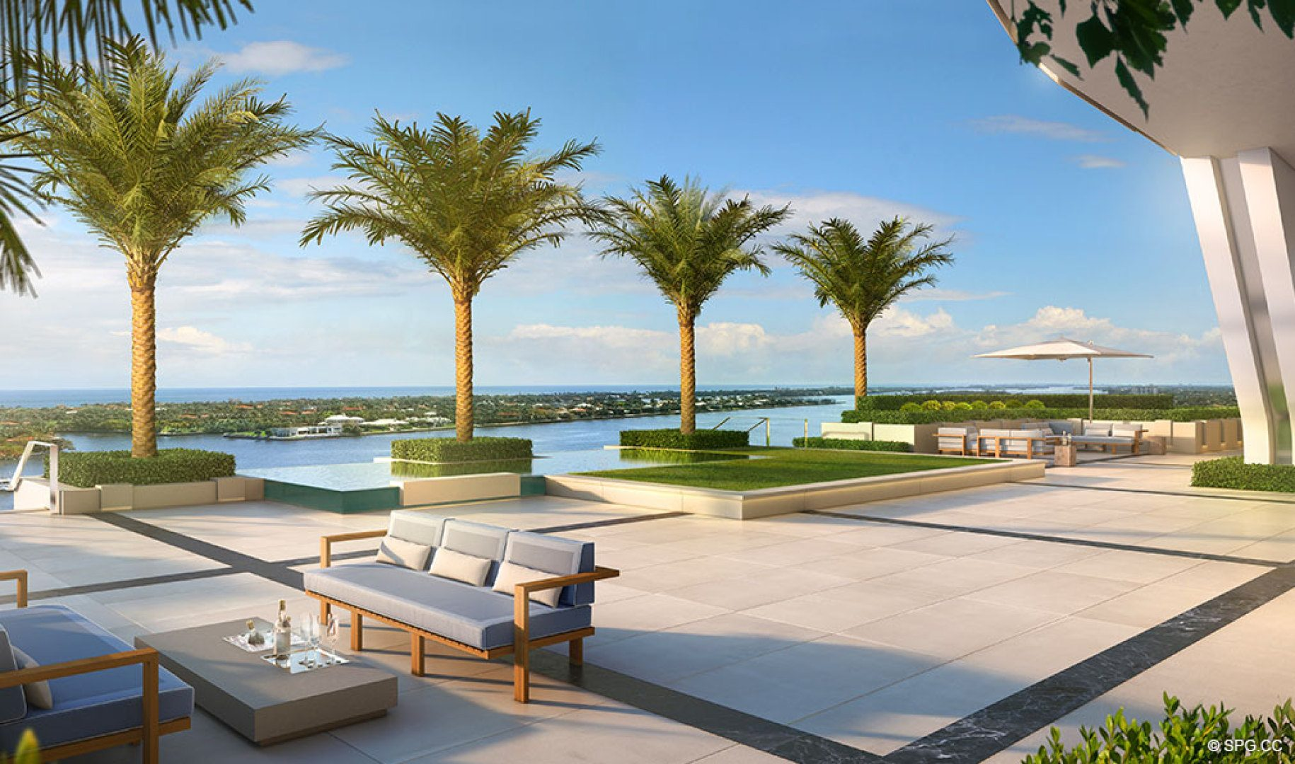 Gorgeous Amenity Views at The Bristol, Luxury Waterfront Condos in West Palm Beach, Florida 33401