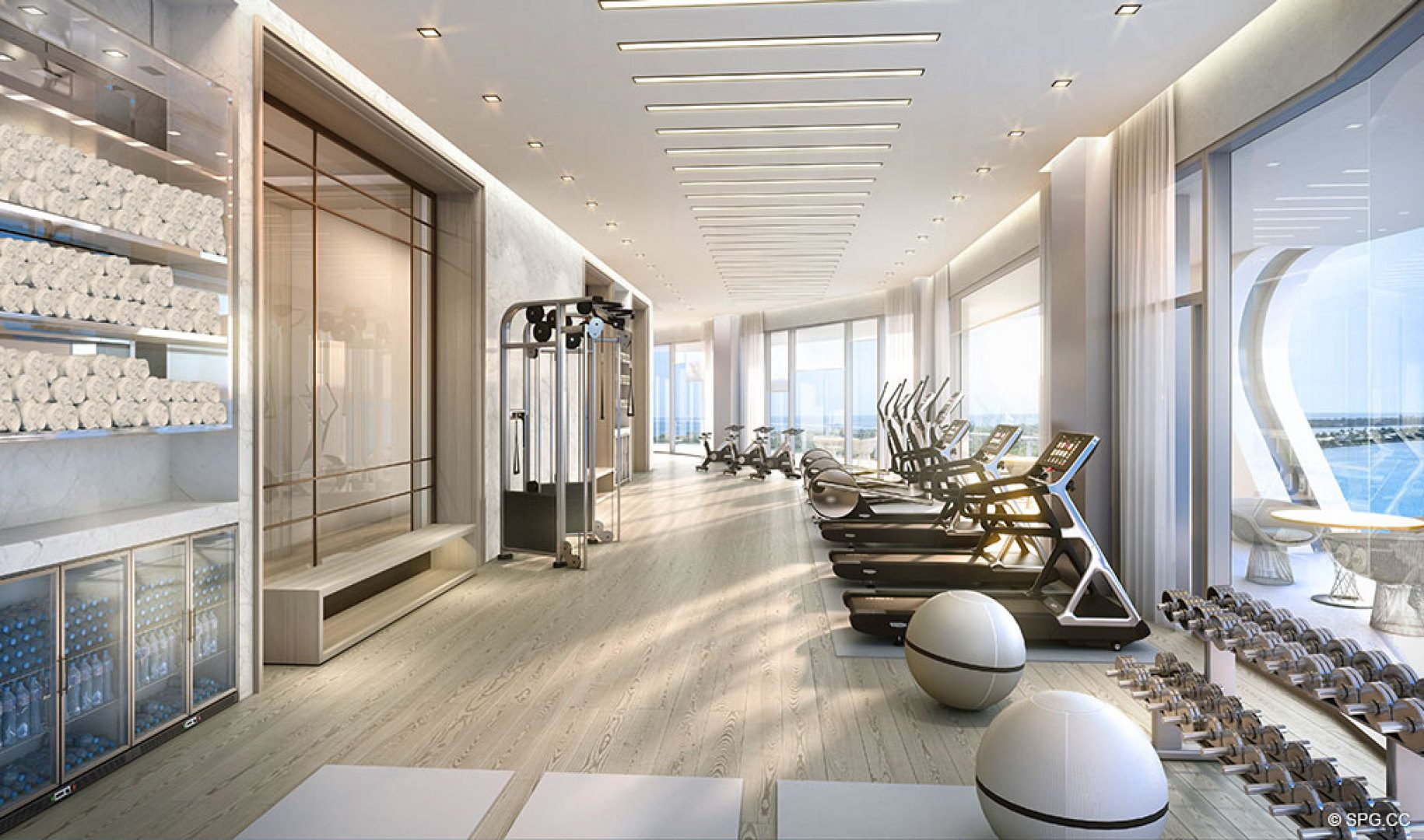 Fitness Center at The Bristol, Luxury Waterfront Condos in West Palm Beach, Florida 33401