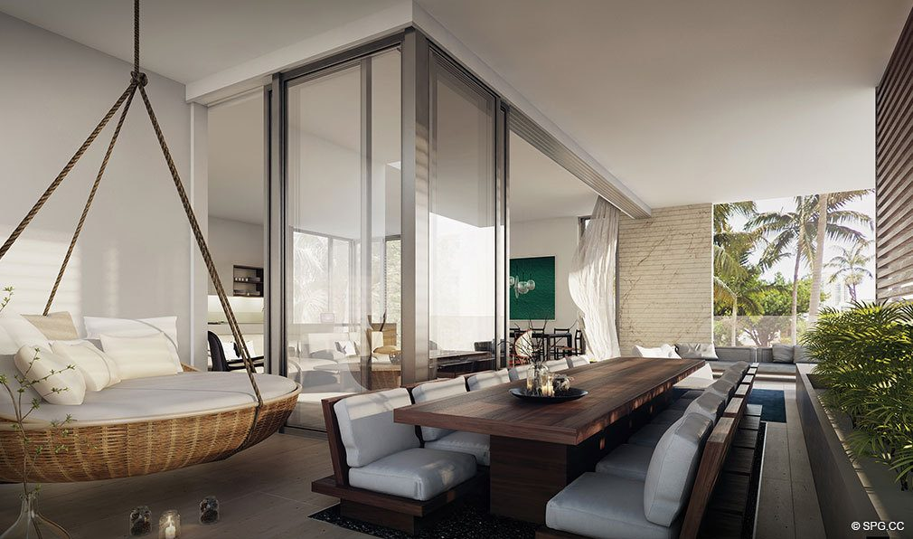 Gorgeous Private Terraces at Louver House, Luxury Seaside Condos in Miami Beach, Florida 33139