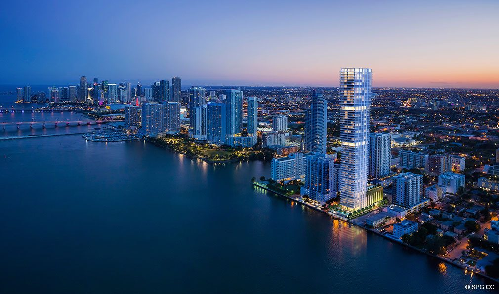 Sunset at Elysee, Luxury Waterfront Condos in Miami, Florida 33137