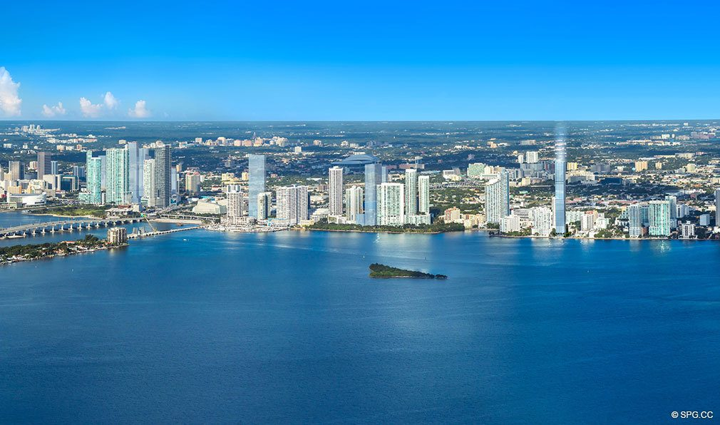 Location of Elysee, Luxury Waterfront Condos in Miami, Florida 33137