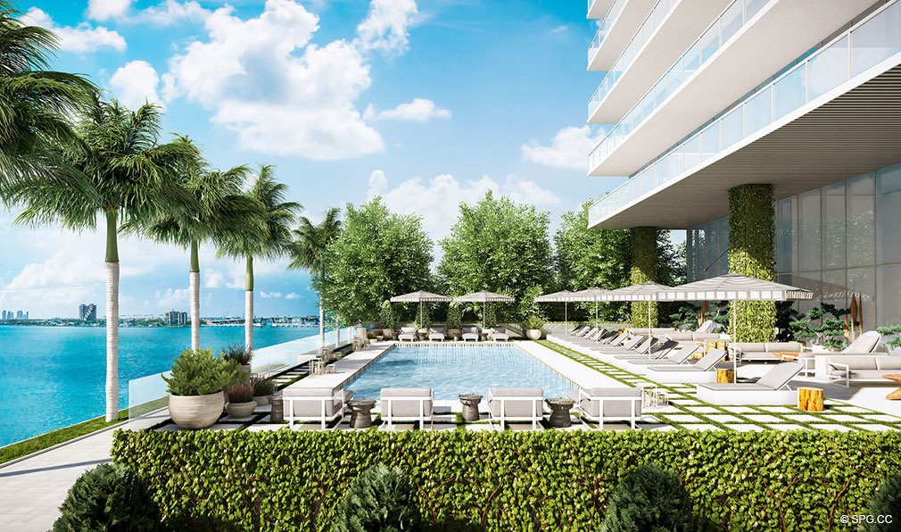 Pool Area at Elysee, Luxury Waterfront Condos in Miami, Florida 33137