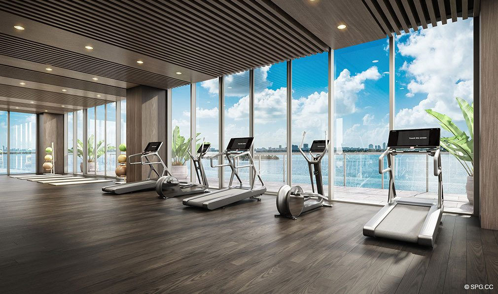 Fitness Center at Elysee, Luxury Waterfront Condos in Miami, Florida 33137