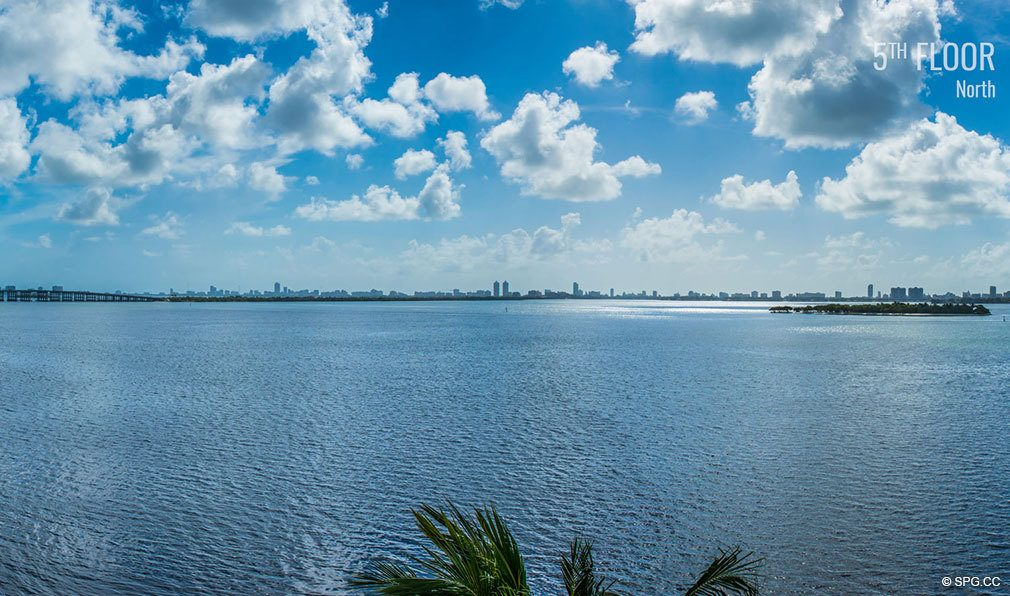 Fifth Floor North View from Elysee, Luxury Waterfront Condos in Miami, Florida 33137