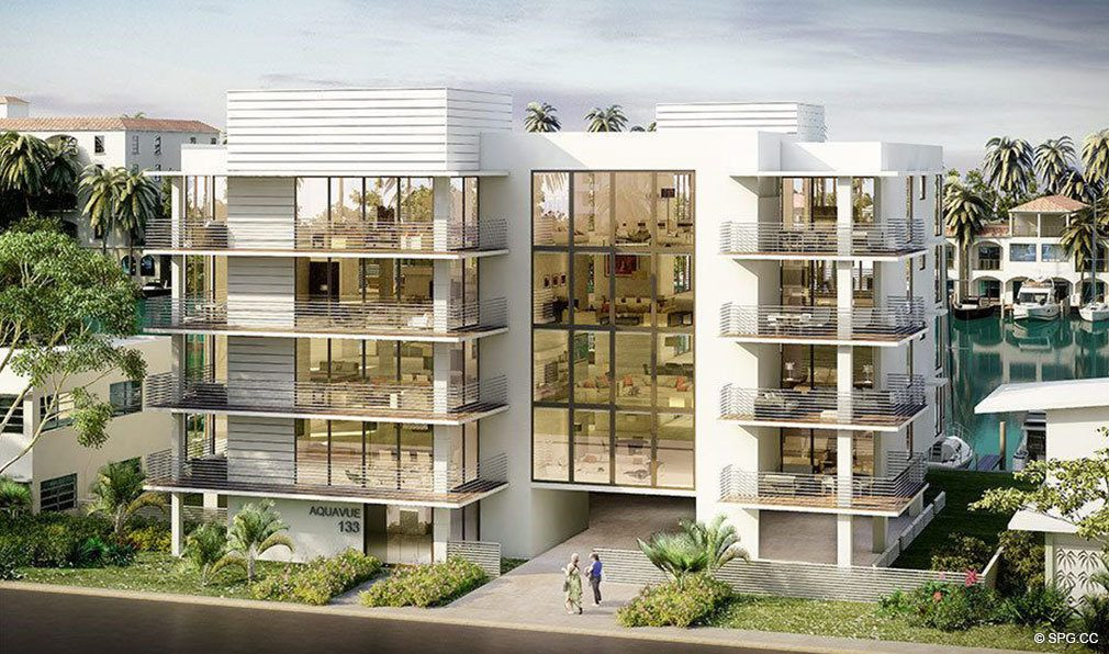 Street View of AquaVue Las Olas, Luxury Waterfront Condos in Fort Lauderdale, Florida 33301