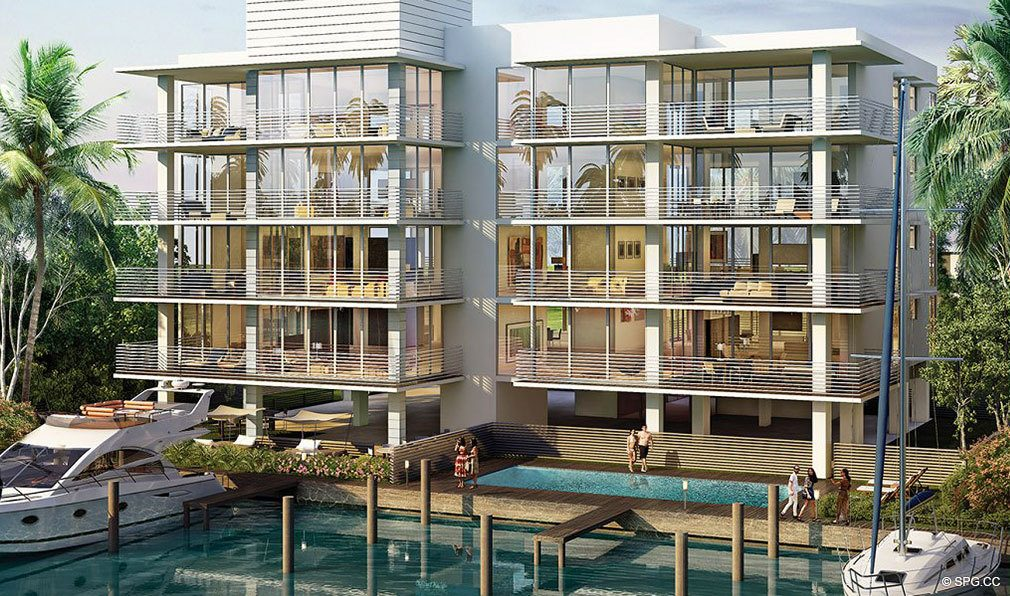 Intracoastal View of AquaVue Las Olas, Luxury Waterfront Condos in Fort Lauderdale, Florida 33301