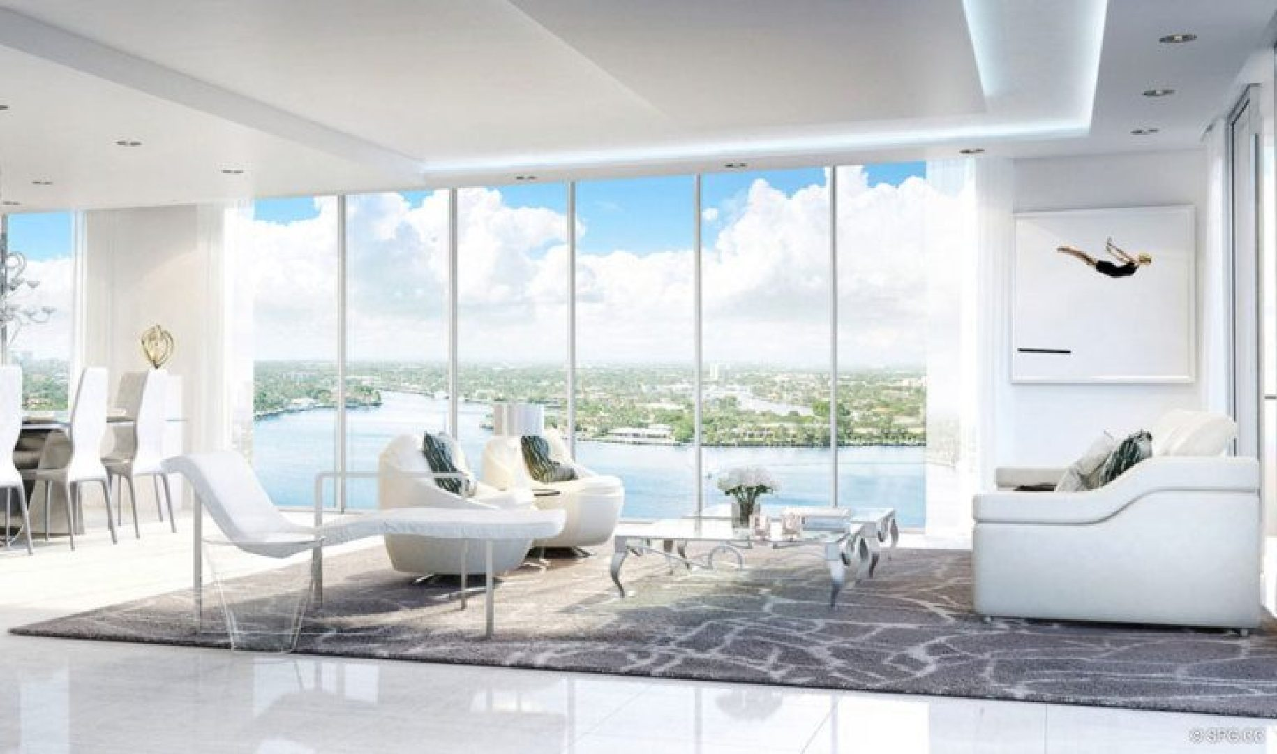 Spacious Interior Floor Plans in 321 at Water's Edge, Luxury Waterfront Condos in Fort Lauderdale, Florida 33304