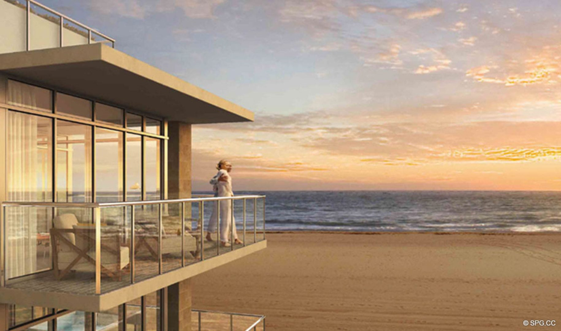 Enjoy Beautiful Sunrises at Sage Beach, Luxury Oceanfront Condos in Hollywood Beach Florida 33019