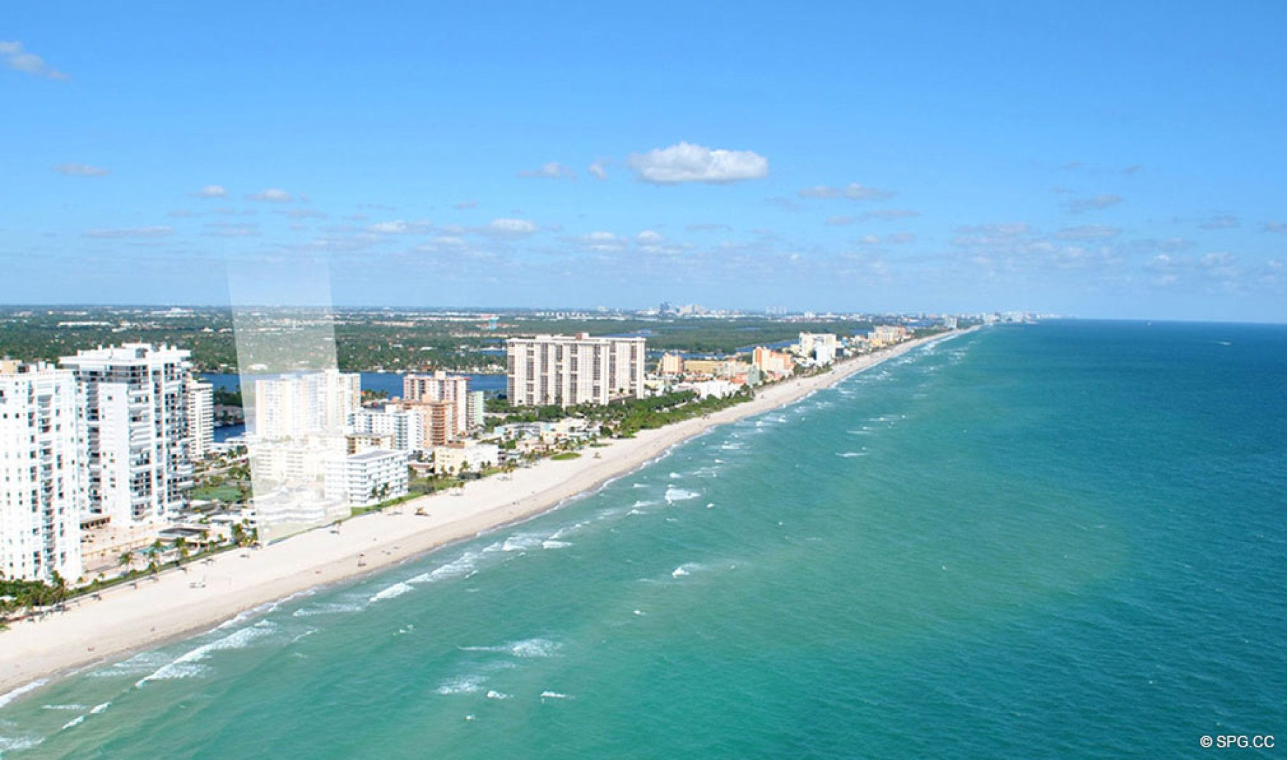 Location Looking North of Sage Beach, Luxury Oceanfront Condos in Hollywood Beach Florida 33019
