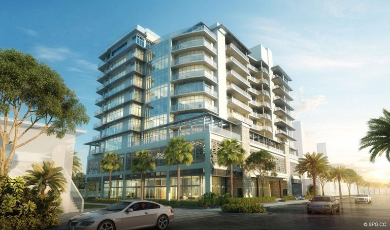 Street View of Adagio Fort Lauderdale Beach, Luxury Waterfront Condos in Fort Lauderdale, Florida 33304