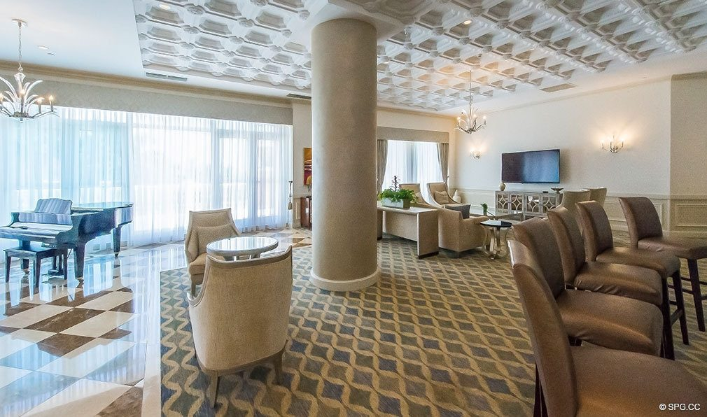 Exquisitely Designed Club Room at The Palms, Luxury Oceanfront Condos in Fort Lauderdale 33305