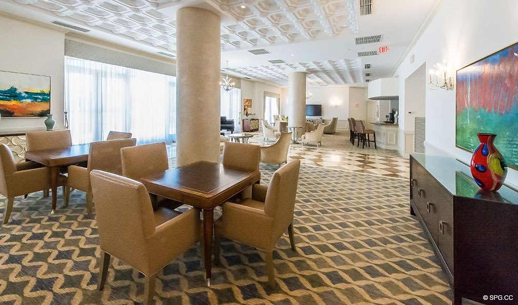 Club Room at The Palms, Luxury Oceanfront Condos in Fort Lauderdale 33305