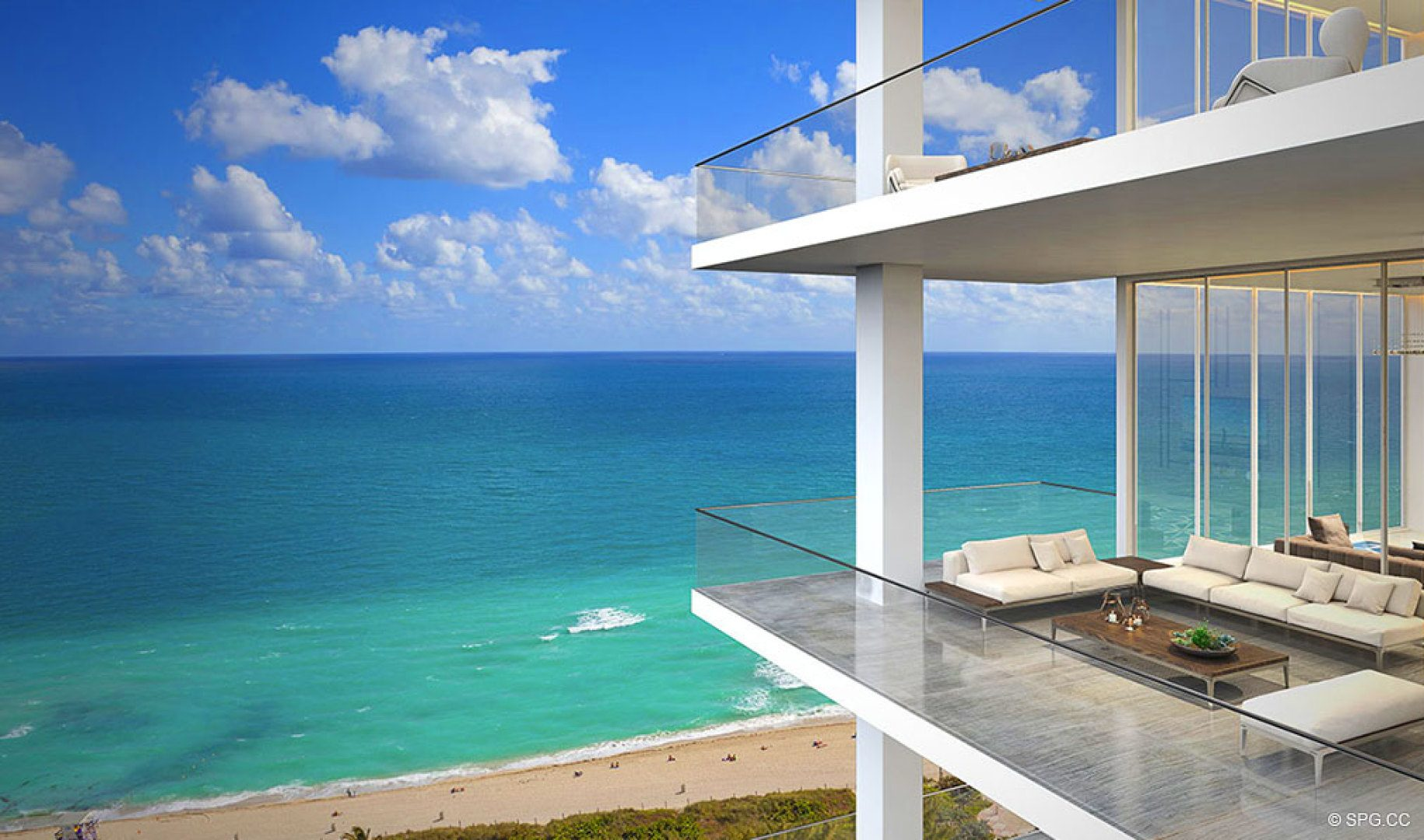 Direct Ocean Views from 5000 North Ocean, Luxury Oceanfront Condos in Riviera Beach