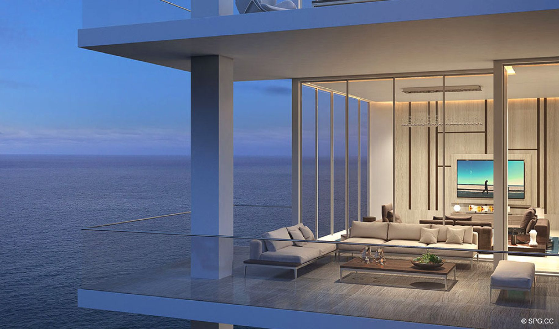 Gorgeous Terrace Evenings from 5000 North Ocean, Luxury Oceanfront Condos in Riviera Beach