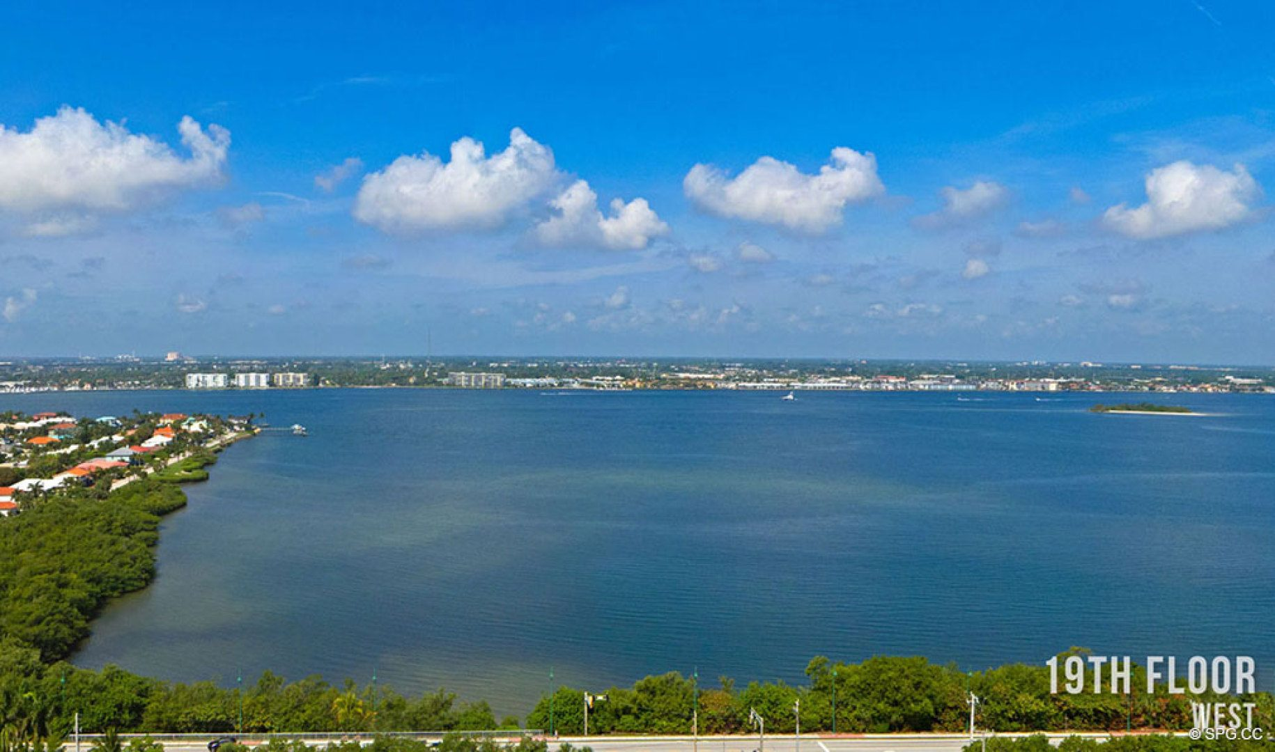 Nineteenth Floor Western Views from 5000 North Ocean, Luxury Oceanfront Condos in Riviera Beach