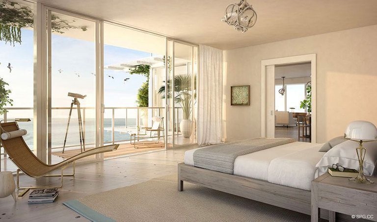 Bedroom Design at 3550 South Ocean, Luxury Oceanfront Condos in Palm Beach, Florida 33480